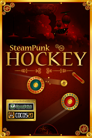 SteamPunk Hockey140 Title Screen